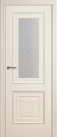 Дверь Profil Doors №28Х-Классика, стекло узор, цвет эш вайт, остекленная