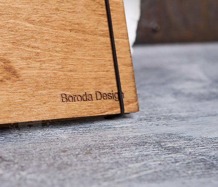 BC133-3 Деревянный блокнот ручной работы со сменным блоком фото 02