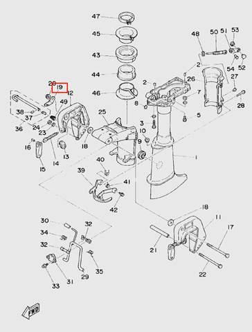 Пластина зажима кронштейна  для лодочного мотора T5 Sea-PRO (10-19)