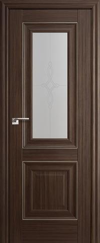 Дверь Profil Doors №28Х-Классика, стекло узор, цвет натвуд натинга, остекленная