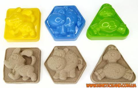 формочки для игры с песком животные