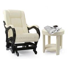 Кресло-качалка Модель 78 Экокожа с журнальным столиком