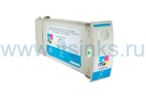 Картридж для HP 81 (C4931A) Cyan 680 мл