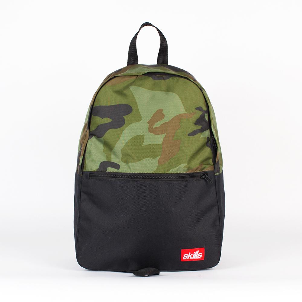 Рюкзак SKILLS Small Backpack Black/camo-1