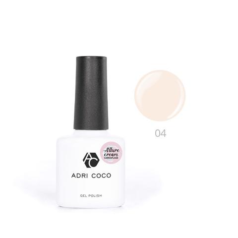 Гель-лак ADRICOCO Allure сream №04 камуфлирующий светло-персиковый (8 мл.)
