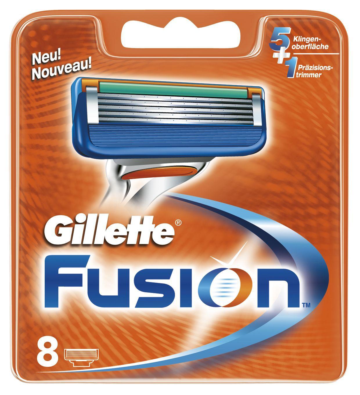 Gillette Fusion сменные кассеты 8 шт