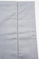 Простыня на резинке 160x200 Сaleffi Raso Tinta Unito с бордюром сатин серебристая