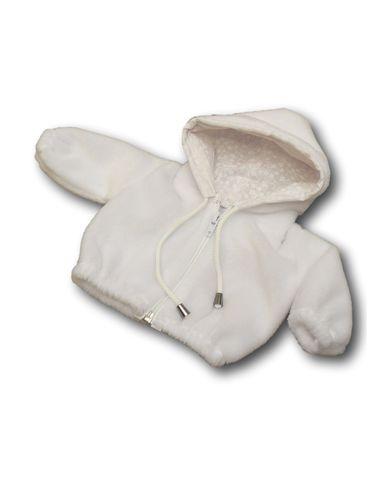 Меховая куртка с капюшоном - Белый. Одежда для кукол, пупсов и мягких игрушек.