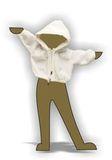 Меховая куртка с капюшоном - Демонстрационный образец. Одежда для кукол, пупсов и мягких игрушек.