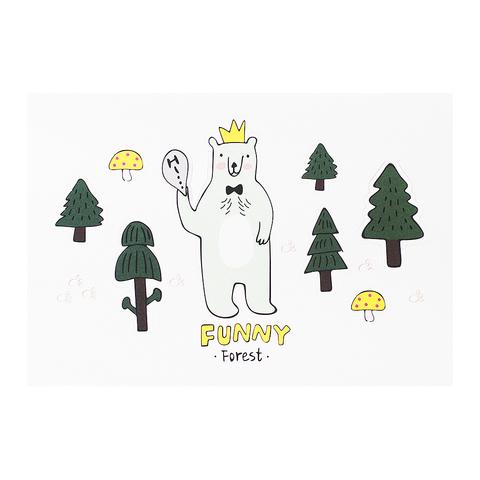 Открытка Funny Медведь