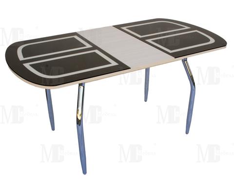 Стол обеденный МС мини прямоугольный черный, дуб светлый