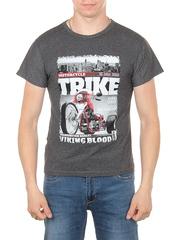 11113-8 футболка мужская, темно-серая