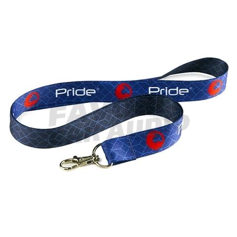 Лента Pride с карабином синяя