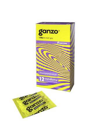 Презервативы Ganzo Sense, ультратонкие, латекс, 18 см, 12 шт фото