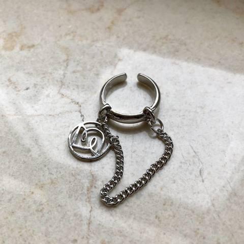 Кольцо Чара, серебряный цвет