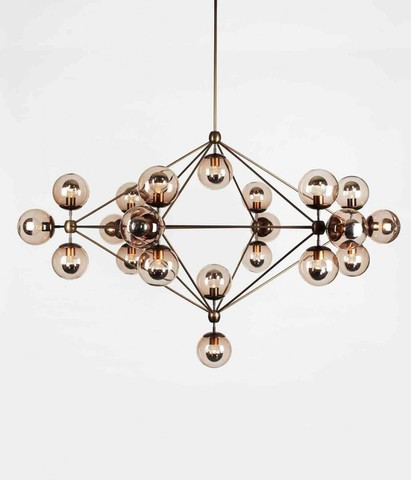 replica ROLL&HILL   Modo Chandelier - 6 Sided, 21 Globes