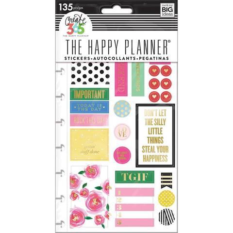 Блок со стикерами для ежедневника Create 365 Planner Stickers- Make It Happen - 132шт.