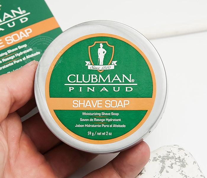 RAZ28005 Натуральное мыло для бритья Clubman Shave Soap (60 гр) фото 04