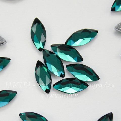 2201 Стразы Сваровски горячей фиксации наветте Emerald (8х3,5 мм)
