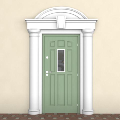 Обрамление из пенопласта для двери