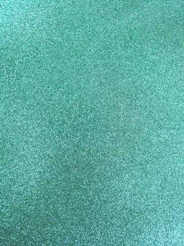 Глиттерный фоамиран 20х30х2 мм аквамарин