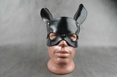 """БДСМ шлем на верхнюю часть лица """"Е-РАБбит"""""""