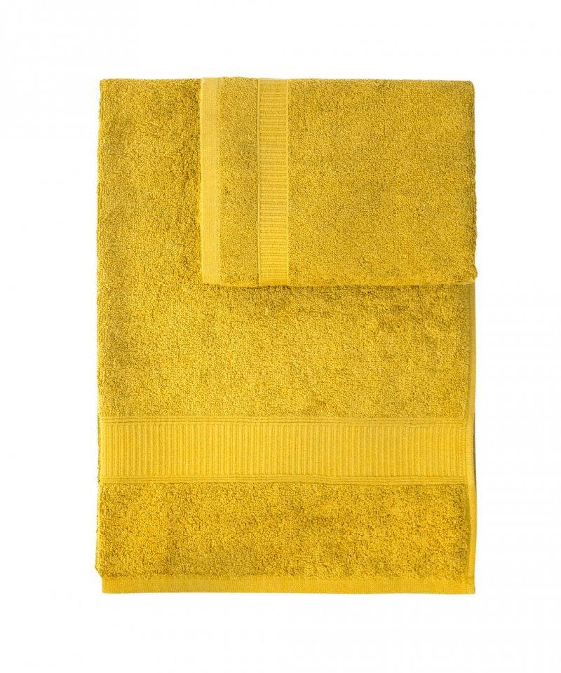 Набор полотенец 2 шт Caleffi Calypso желтый