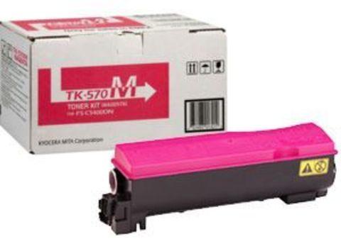 Kyocera TK-570M - малиновый тонер-картридж для принтеров Kyocera FS-C5400DN. Ресурс 12000 страниц.