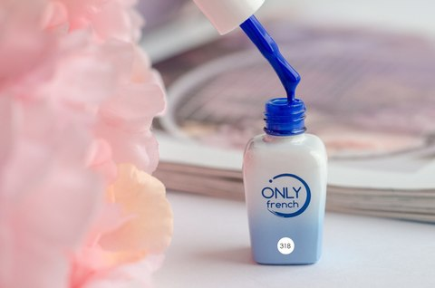 Гель-лак Only French, Blue Touch №318, 7ml