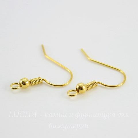 Швензы - крючки с шариком (цвет - золото) 18 мм, 5 пар