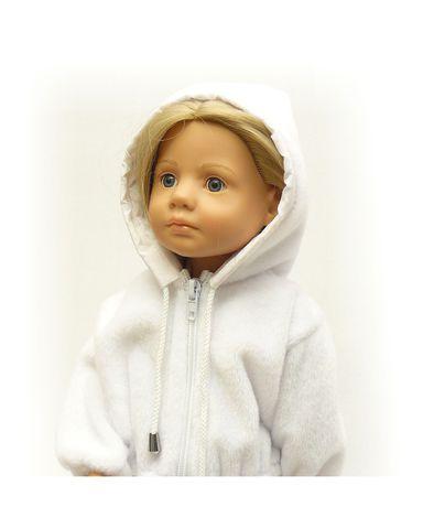 Меховая куртка с капюшоном - На кукле. Одежда для кукол, пупсов и мягких игрушек.