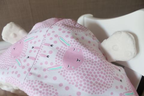Летний конверт на выписку Овечки, розовый