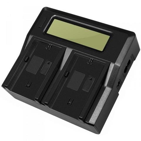 Двойное зарядное LCD устройство Allytec для Sony NP-FM500