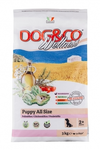 Adragna Dog&Co Wellness Puppy chicken & rice (3 кг)