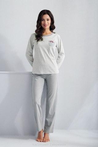 Серая пижама домашняя с брючками Luna 620