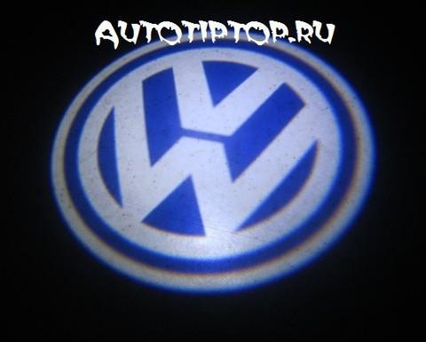 Лазерная проекция с логотипом Volkswagen - VW