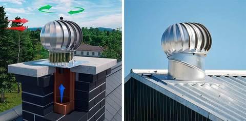 Турбодефлектор крышный d400мм оцинкованный