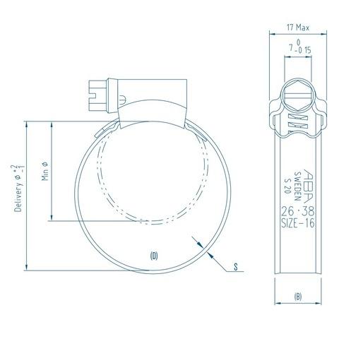 Хомут NORMA TORRO S 180-200/9 C7 W1