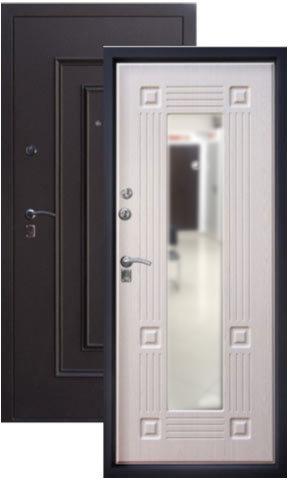 Дверь входная Алмаз Алмаз 1 Руст, 2 замка, 1,5 мм  металл, (медь антик+беленый дуб)