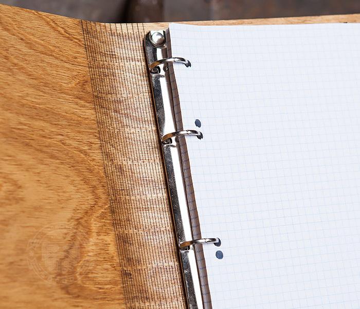 BC133-3 Деревянный блокнот ручной работы со сменным блоком фото 07