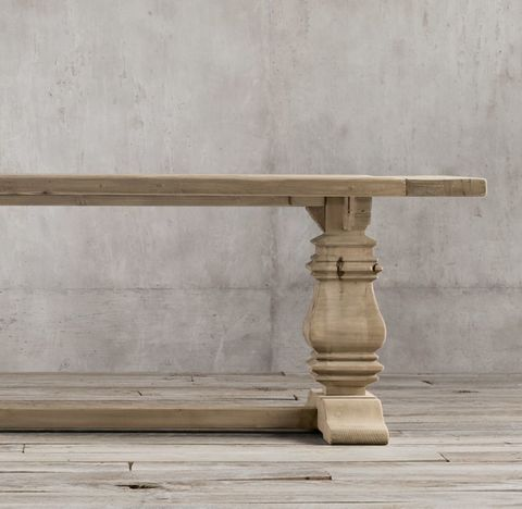 Salvaged Wood Trestle Rectangular Dining Table