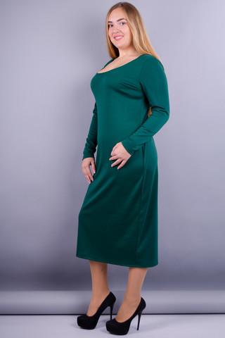 Мирослава француз. Сукня великих розмірів. Смарагд.