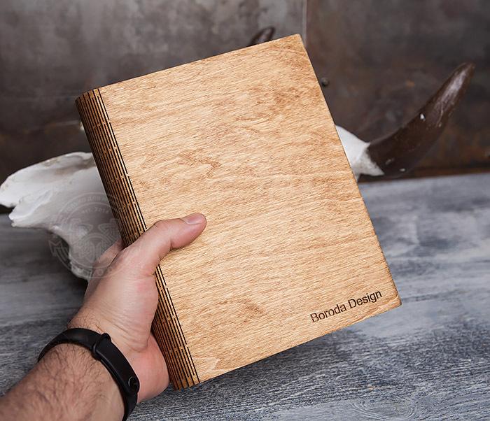 BC133-3 Деревянный блокнот ручной работы со сменным блоком фото 08