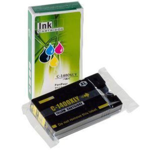 Совместимый картридж PGI-1400XL Y для Canon MB2040/MB2140/MB2340, желтый