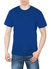 4495-8 футболка мужская, синяя