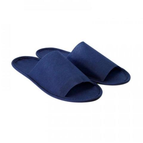 Тапочки Вайт Лайн синии с откытым мысом на жесткой основе 2шт/уп