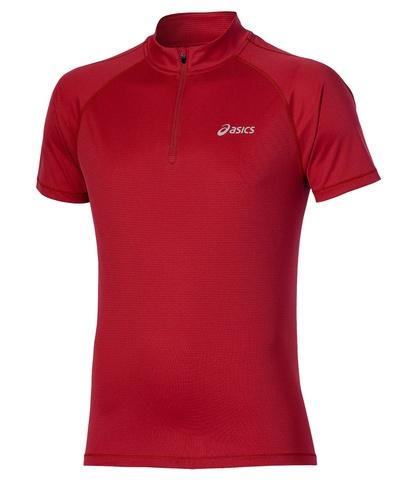 Asics SS 1/2 Zip Top Мужская футболка для бега красная