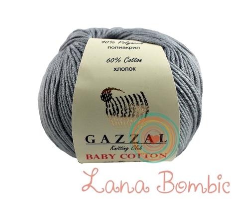 Пряжа Gazzal Baby Cotton 3430 серый