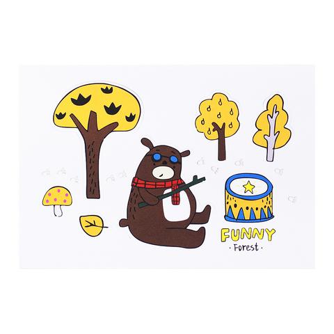 Открытка Happy Forest Медведь с барабаном