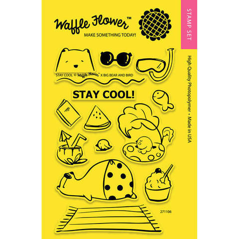 Набор штампов Waffle Flower Crafts Clear Stamps 10х15см  -Stay Cool